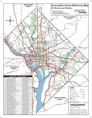 Evacuation Route Reference Map - Ward 3 - Homeland Security and ...