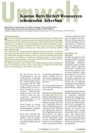 Verbreitung der Direktsaat in der Schweiz - Kanton Bern