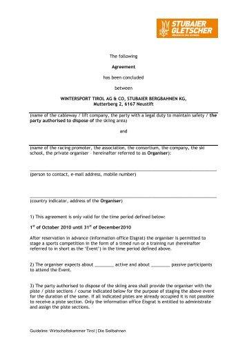 Vereinbarung Englisch