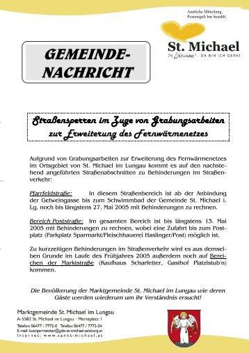 Gemeindenachricht Nr. 104 vom April 2005 - Marktgemeinde St ...