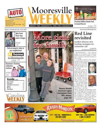 More time for family - Carolina Weekly Newspapers