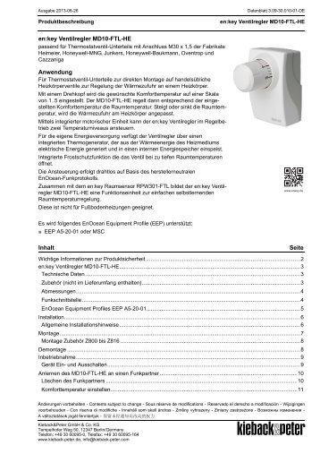 MD10-FTL-HE en:key Ventilregler