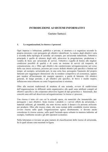INTRODUZIONE AI SISTEMI INFORMATIVI Gaetano Santucci 4e858a55ade8