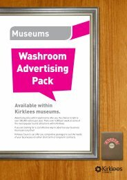 Kirklees Museums Washroom Advertising - Kirklees Council
