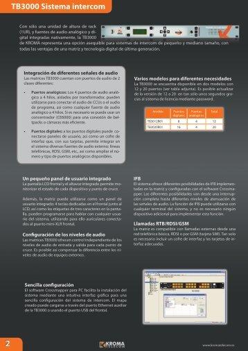 Intercom 2012 es.indd - Kroma