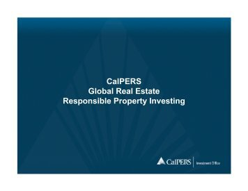 CalPERS Global Real Estate Responsible Property Investing