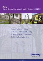 Derry District Housing Plan 2013 - Northern Ireland Housing Executive