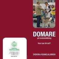 Domare på hundutställning - Svenska Kennelklubben