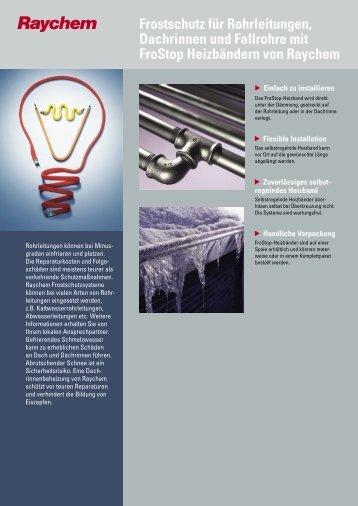Frostschutz-Heizbänder FroStop - Systec Therm AG