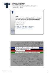 ECM - PROJECT CONSULT Unternehmensberatung Dr. Ulrich ...