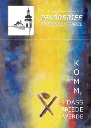 K O M M, - Pfarrgemeinde Innsbruck-Arzl