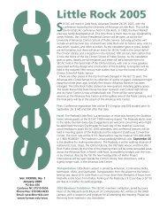 Jan. 2005 SECAC Newsletter, Vol. XXXVIII, no. 1