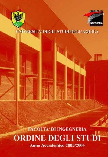 Guida 2003/2004 - Ingegneria