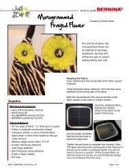 Monogrammed Frayed Flower - Bernina