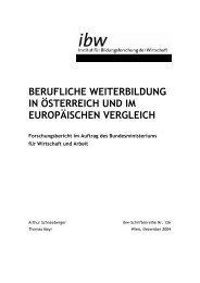 berufliche weiterbildung in österreich und im europäischen vergleich