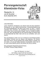 Pfarrbrief 12-2013 - Bistum Augsburg