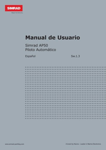 Manual de Usuario - Simrad Professional Series - Simrad Yachting