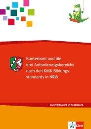 Kunterbunt und die 3 Anforderungsbereiche - Ernst Klett Verlag