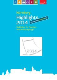 Highlights 2014 - Tourismus Nürnberg - Stadt Nürnberg
