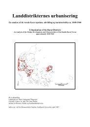 Landdistrikternes urbanisering - Syddansk Universitet