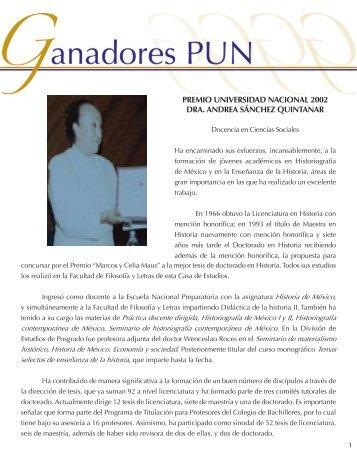 Dra. Andrea Sánchez - dgapa unam