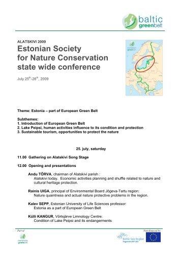 program - baltic green belt