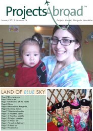 LAND OF BLUE SKY - Projects Abroad