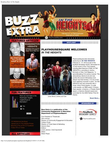 Broadway Buzz- In The Heights - PlayhouseSquare
