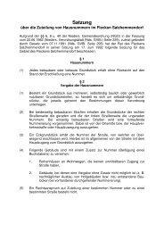 Satzung über die Zuteilung von Hausnummern - Flecken ...
