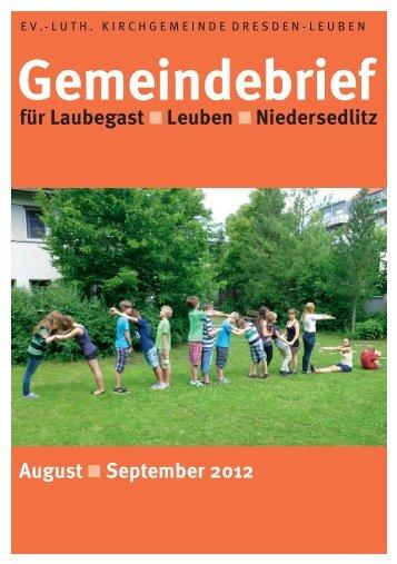 Gemeindebrief August / September 2012 - Ev.-Luth. Kirchgemeinde ...
