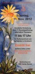 Eintritt frei - Klassische Homöopathie Ansbach