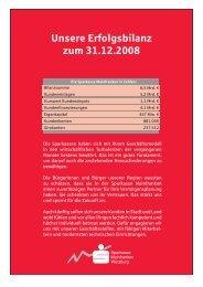 Erfolgsbilanz 2008 - Sparkasse Mainfranken Würzburg