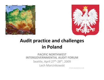 Audit practice and challenges in Poland - Intergovernmental Audit ...