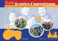 Le Guide du maître d'apprentissage - Chambre d'Agriculture de la ...