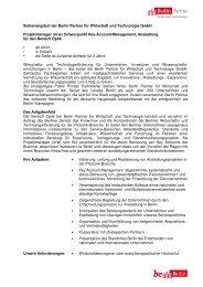 (m/w) Schwerpunkt Key-Account-Management - Berlin Partner GmbH
