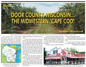 """The """"Cape Cod"""" of Wisconsin? - Vitality Magazine Cape Cod"""