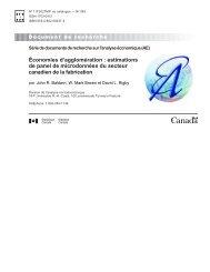 Économies d'agglomération - Statistique Canada