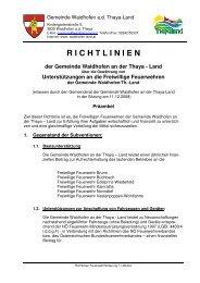 Richtlinien Feuerwehrförderung (81 KB) - .PDF - Waidhofen an der ...