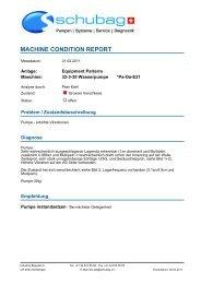 Schubag - Bericht Maschinenzustand - schubag AG