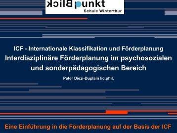 Präsentation von Peter Diezi-Duplain lic. phil. - Schule Winterthur