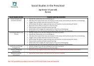 Social Studies in the Preschool - Wellspring Learning Community