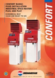 CONFORT RANGE: FIXED INSTALLATION INDUSTRIAL SPACE ...