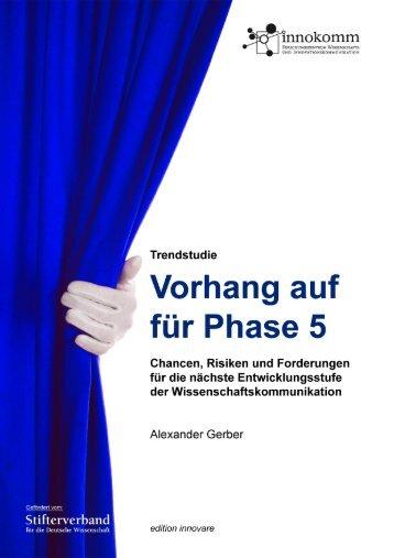 Trendstudie Wissenschaftskommunikation - Stifterverband für die ...