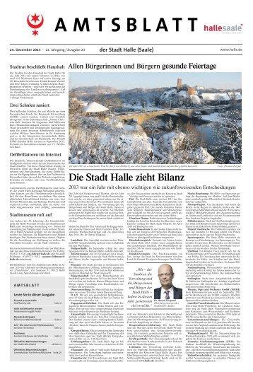 Amtsblatt Nr. 23 vom 24. Dezember 2013 - Stadt Halle (Saale)