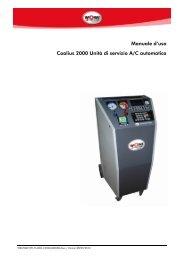 Manuale d'uso Coolius 2000 Unità di servizio A/C automatica