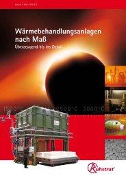 Wärmebehandlungsanlagen nach Maß - Ruhstrat GmbH