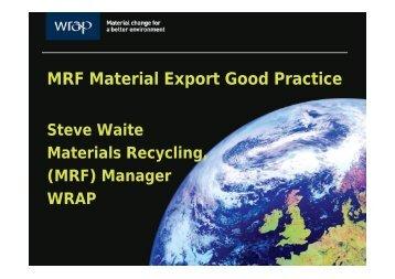 MRF Material Export Good Practice - Wrap