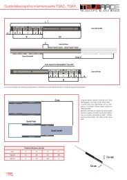 Guide telescopiche in lamiera serie TQAz.., TQAX.. - T RACE SpA