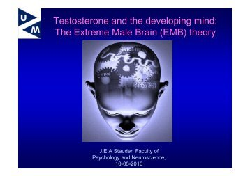 The Extreme Male Brain (EMB) theory