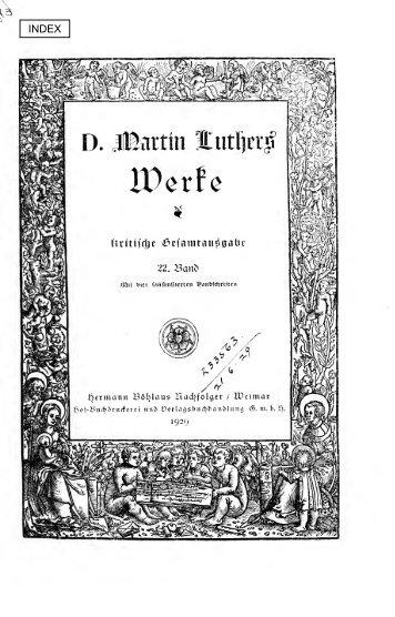 Crucigers Sommerpostille (Forts.) - Maarten Luther